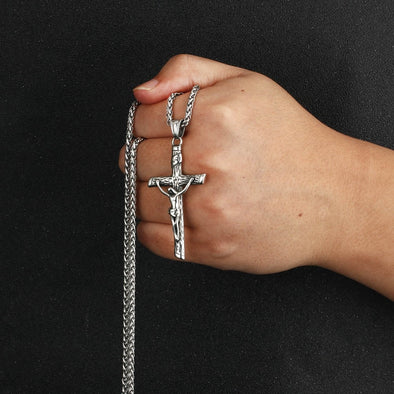 Urban Iced Crucifix Necklace