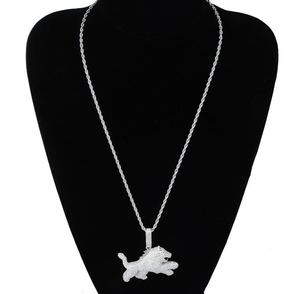 Iced Beast Lion Animal Necklace