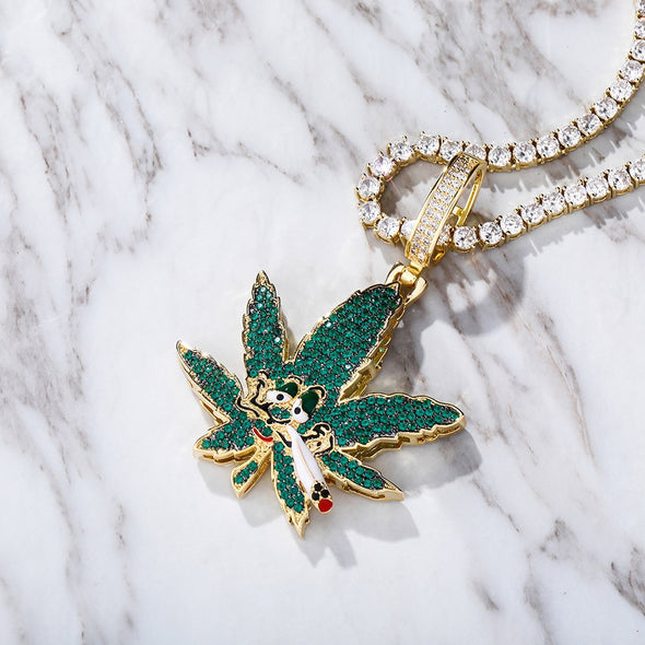 Urban Iced Maple Leaf Necklace