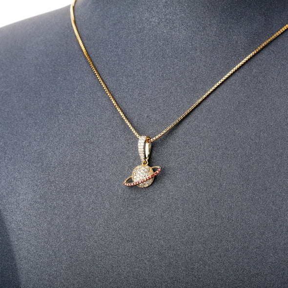 Urban Iced Planet Necklace