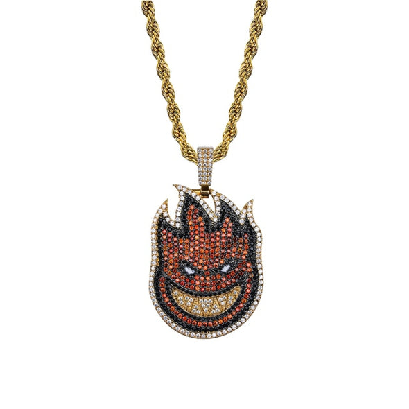 Urban Iced Flame Boy Spitfire Necklace