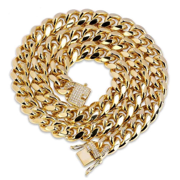 12mm 14K Gold Miami Cuban Link Chain