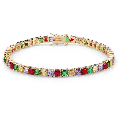 5mm Multi Colored Tennis Bracelet