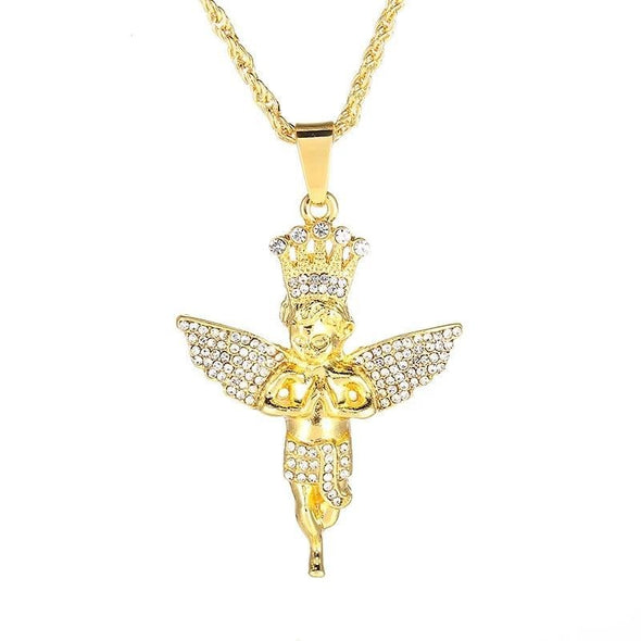 14K Gold Iced Angel