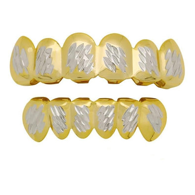 The Two-Tone Faceted Grillz