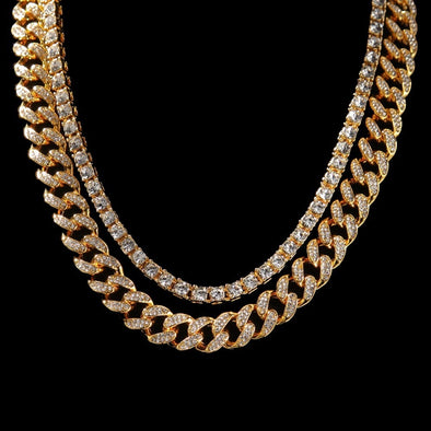 Urban Iced Bundle (Cuban Link Chain + Tennis Chain)