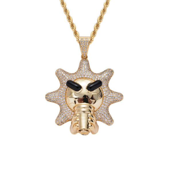 14k Gold Iced Glo Gang Cup Pendant