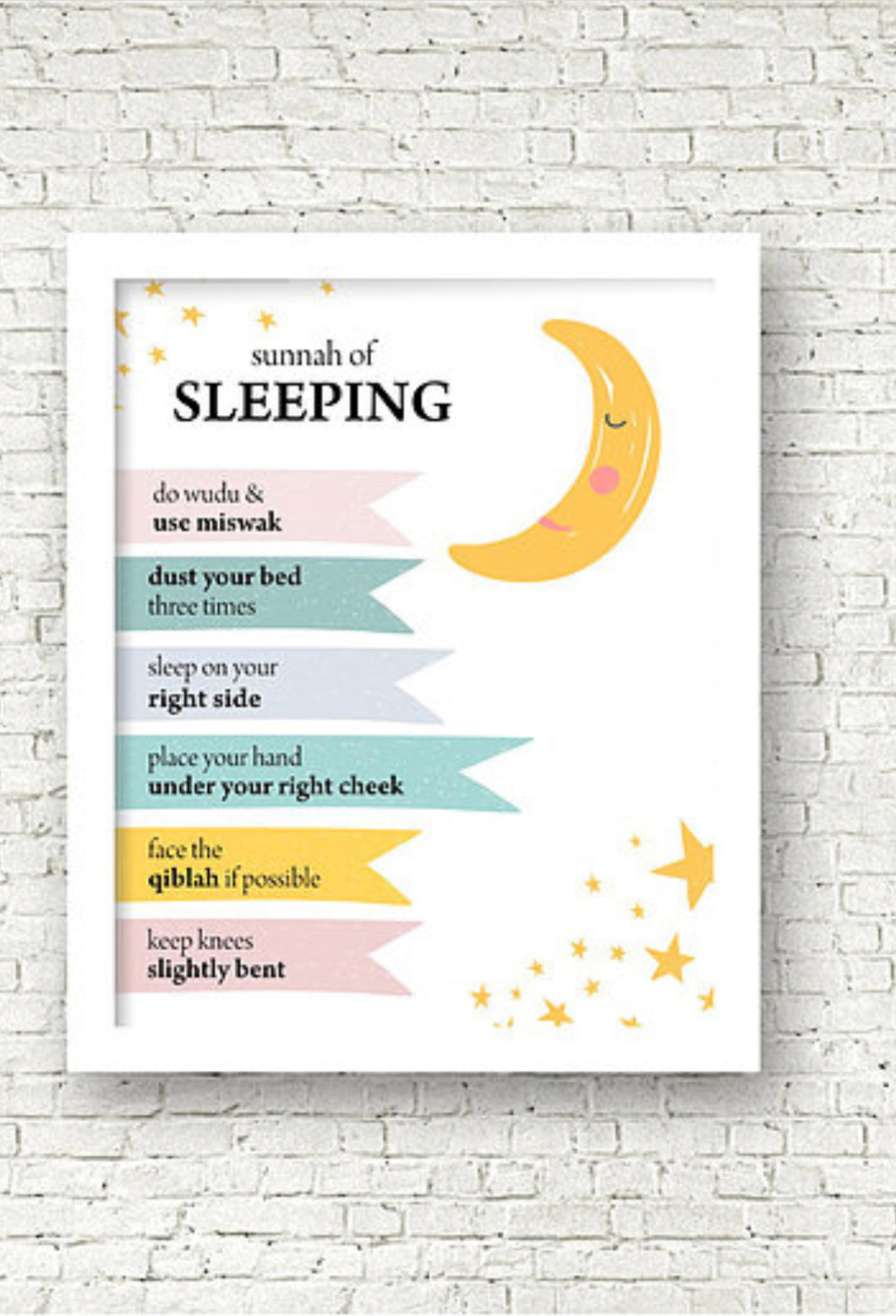 Sunnah of Sleeping Print