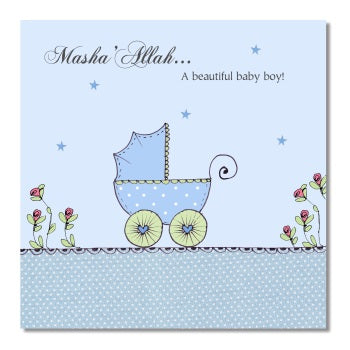 Masha Allah New Baby Card
