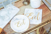 Load image into Gallery viewer, Marble Arabesque Happy Eid Napkins