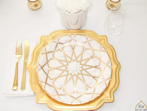 Marble Arabesque Dinner Plates