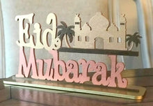 Load image into Gallery viewer, Wooden Eid Mubarak stand