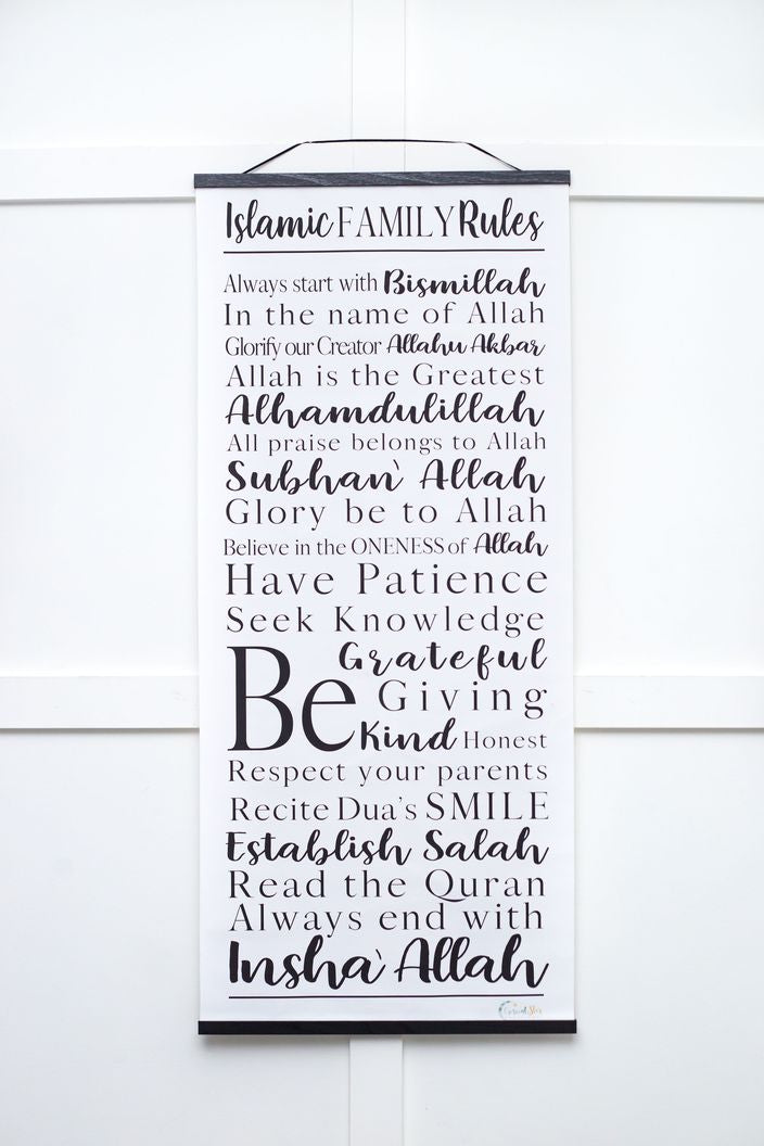 Islamic Family Rules Scroll