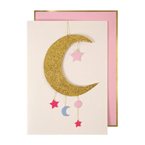 Baby Girl Mobile Greeting Card