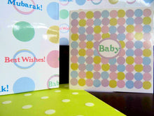 "Load image into Gallery viewer, ""Mubarak"" Baby Gift Wrap Bundle"