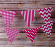Load image into Gallery viewer, Mix Pattern Triangle Flag Bunting