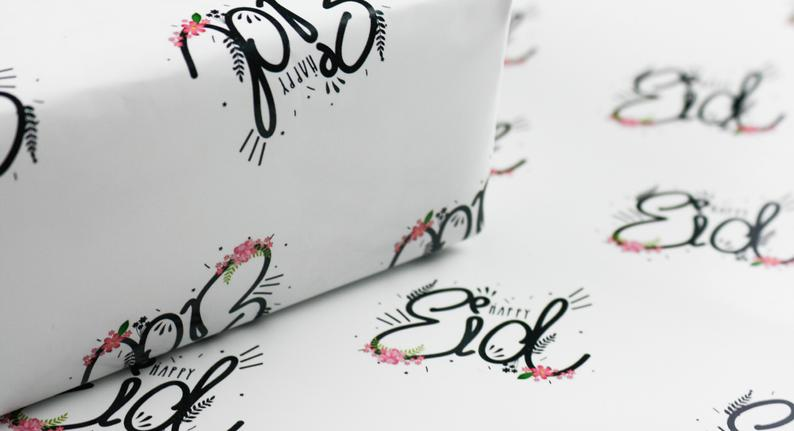 Happy Eid Gift Wrap with Tag