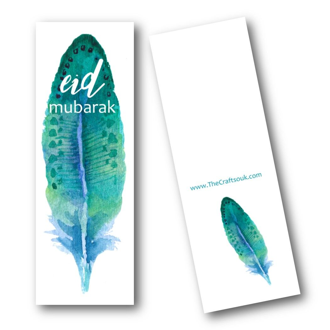 Eid Mubarak Bookmark- leaf