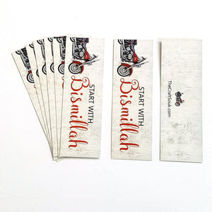 Start with Bismillah Bookmark (Motorcycle)