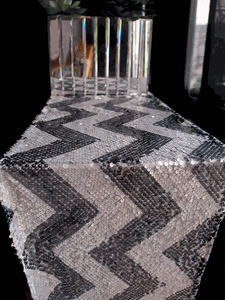 Sequin Chevron Table Runners