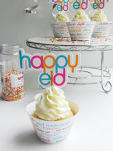 Load image into Gallery viewer, Eid Font Cupcake Wrapper and Topper
