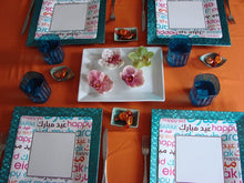 "Load image into Gallery viewer, ""Eid Mubarak"" Font Dinner Plates"