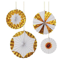 Load image into Gallery viewer, Giant Foil Gold Pinwheels For All Occasions