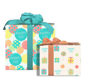 """Happy Eid"" Colorful Gift Wrap"