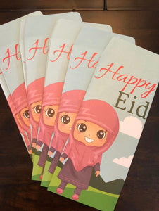 10 Happy Eid Mubarak Money Envelopes(Laila)
