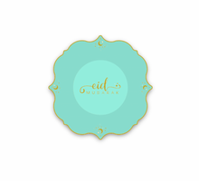 "Load image into Gallery viewer, ""NEW""!! Happy Eid"" Gold/Black Dessert Plates"