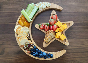 Crescent Moon And 5 Point Star Tray Set