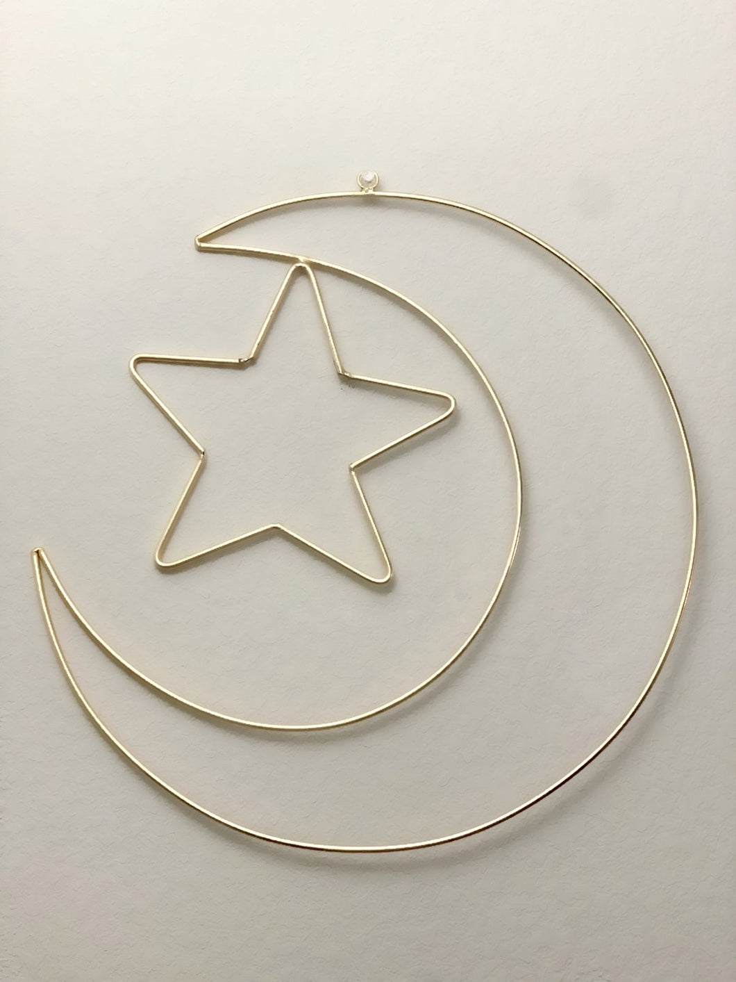 Crescent Moon and Star Wall Decor