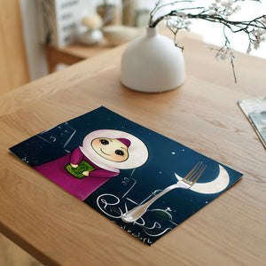 Ramadan Mubarak little girl Placemat