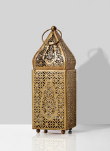Load image into Gallery viewer, Gold Alhambra Moroccan Tealight Lantern (Small)