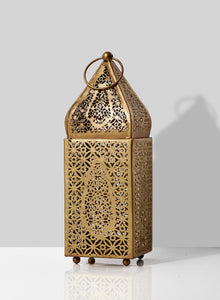 Gold Alhambra Moroccan Tealight Lantern (Small)