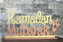 Load image into Gallery viewer, Wooden Ramadan Mubarak stand