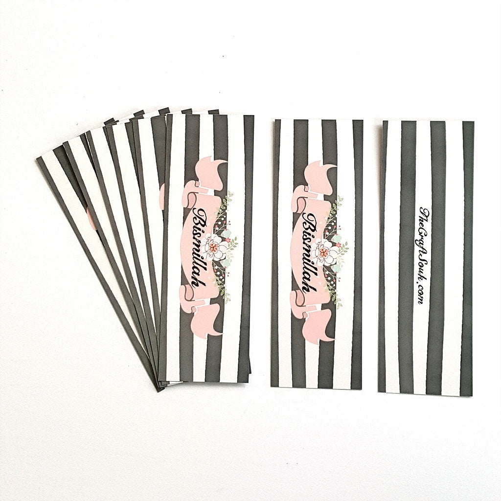 Bismillah Stripes Bookmark