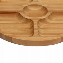 Load image into Gallery viewer, Sectional Natural Bamboo Wood Tray