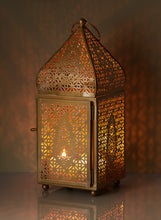 Load image into Gallery viewer, Gold Alhambra Moroccan Square Lantern