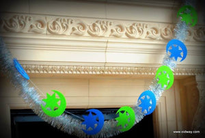 Crescent Moon and Star Garland