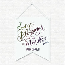 Load image into Gallery viewer, Count Your Blessings Wall Hanging Banner
