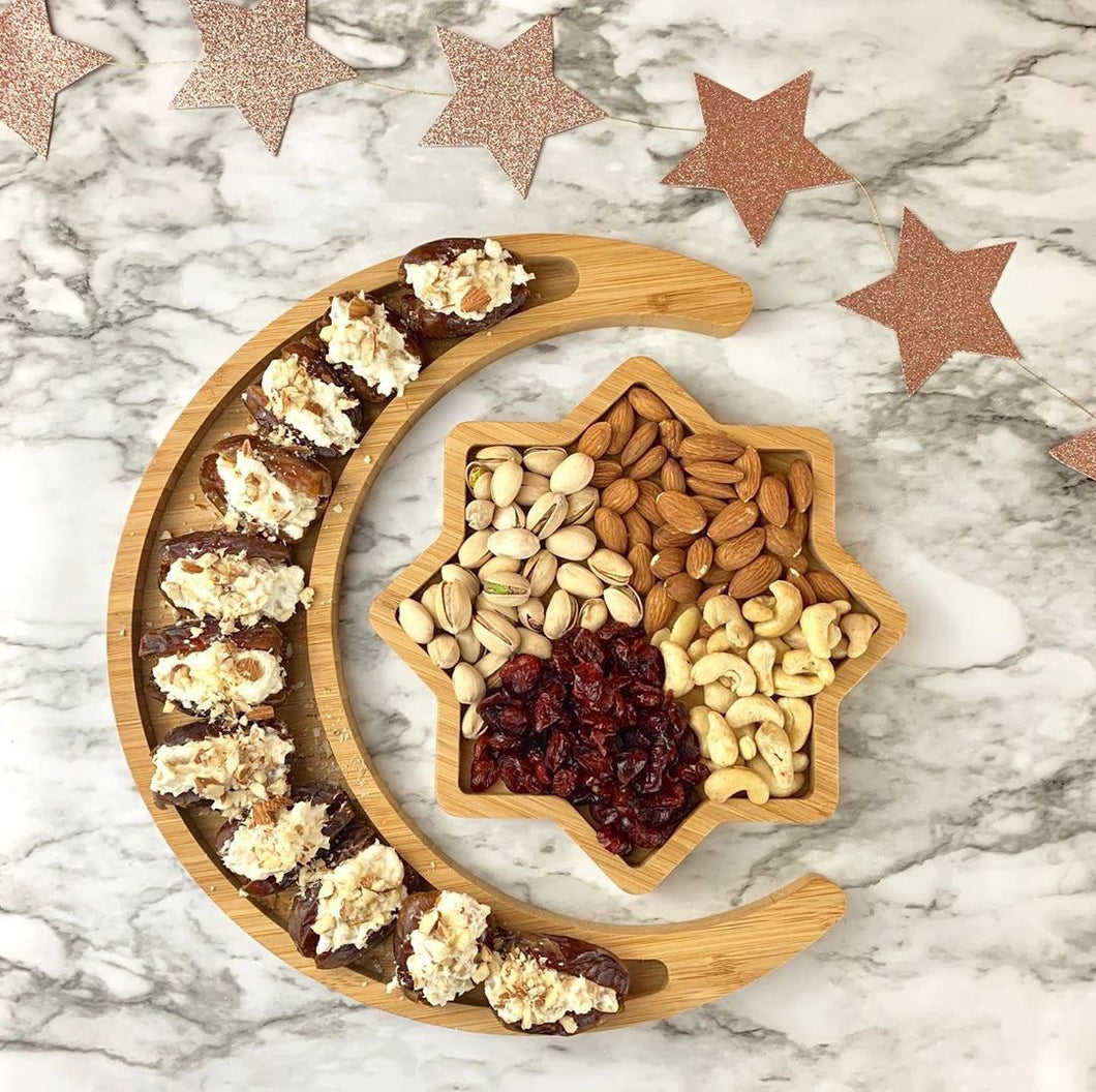 Crescent Moon And Star Tray Set