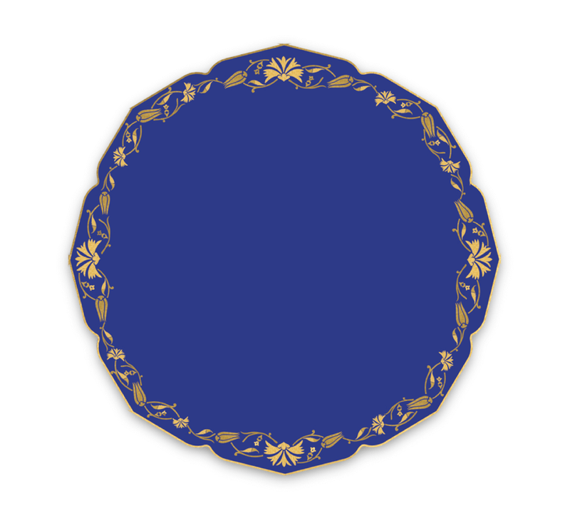 Ramadan Eid Turkish Cobalt Dinner Plates