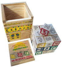 Load image into Gallery viewer, Alphabet Kaaba  Learning Toy (Arabic and English)