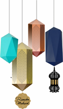 Load image into Gallery viewer, Islamic Geometric hanging lanterns