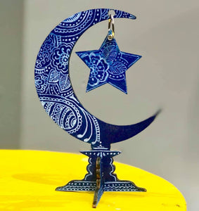 Crescent Moon and Star Stand Center Piece