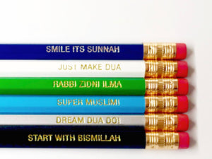 Islamic Reminder Pencils (Mix Pack)