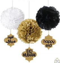 Load image into Gallery viewer, Ramadan/ Eid/ Hajj Glitter Gold Danglers