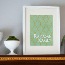 Load image into Gallery viewer, Ramadan Kareem Decorative Print