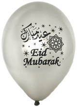 Load image into Gallery viewer, Eid Mubarak Balloons in English & Arabic (Set of 12)
